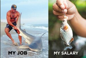 My Job.  My Salary... funny fridge magnet       (ep)